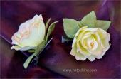 Зажим с желтой розой