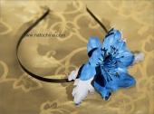 Обруч с синим анемоном