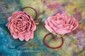 Резинки для волос - розы